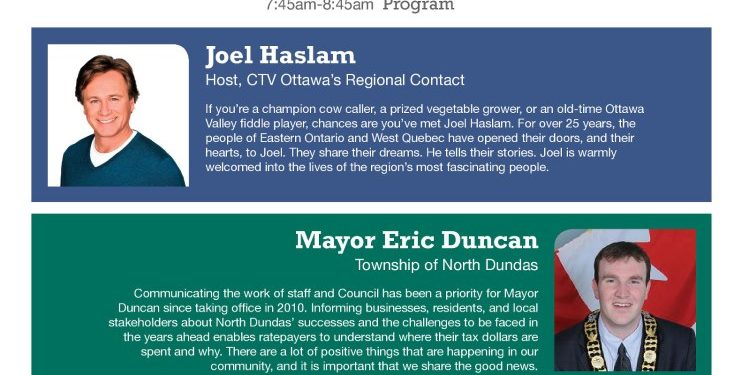 2013 North Dundas Mayors Community Breakfast