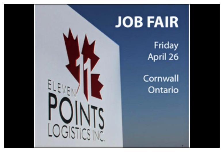 Eleven Points Logistics Job Fair