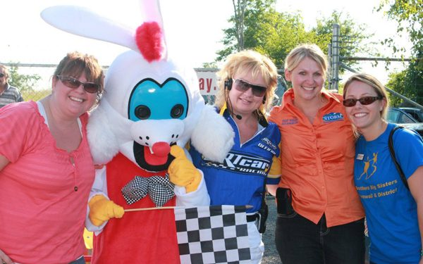 In Photo attached is Amanda Brisson from BBBS, Checkers Carol Morin-Flanagan Cornwall Motor Speedway, Tracy Wheeler STORM Realty, Megan Thomlison from BBBS