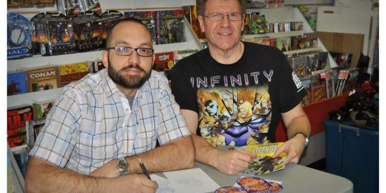 Randy Sauve and Frank Burelle at Free Comic Book