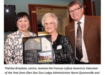 Glen Stor Dun Lodge Volunteer of the Year