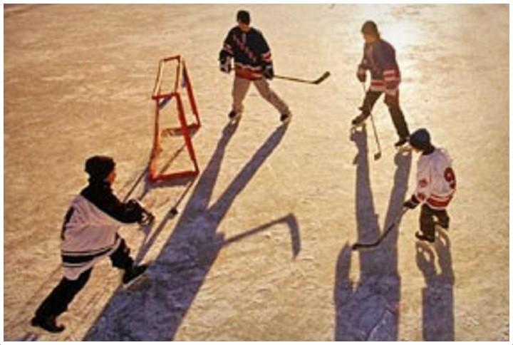 Ice Hockey Cornwall City Park Winter