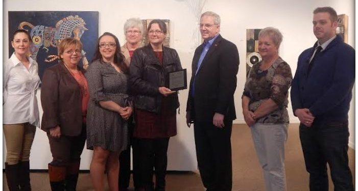 Photo of a Trillium Grant received by TAG earlier in 2014. Photo by Julianne Godard.