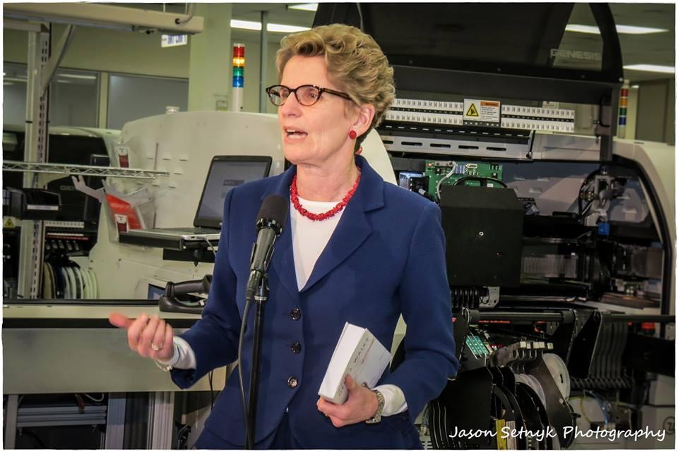 Seeker Kathleen Wynne in Cornwall Ontario