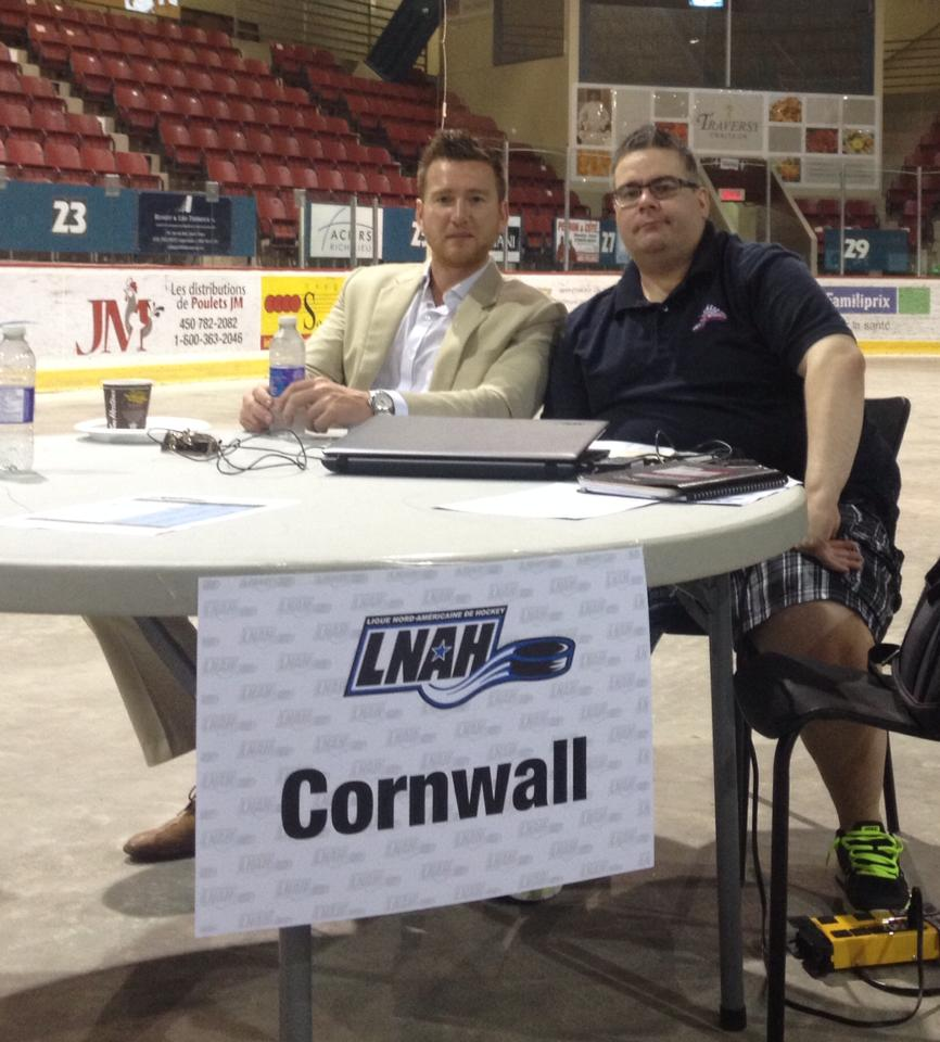 2014 LNAH draft Brock Frost and Mitch Gagne