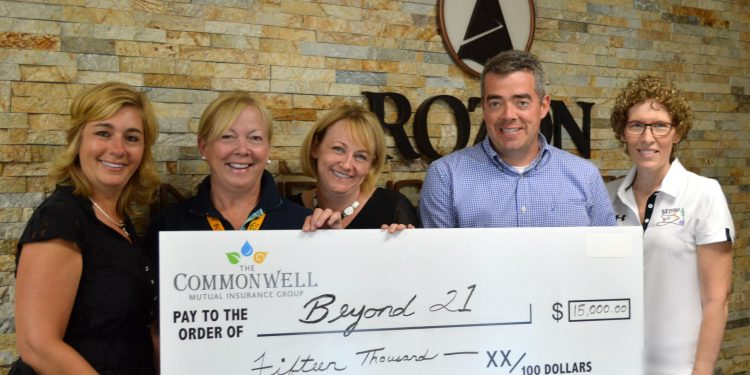 The Commonwell Mutual Insurance recently presented The Hub for Beyond 21 Foundation with a grant for $15000.00 through their C.A.R.E.(Create A Ripple Effect) Program.  Beyond 21 is pleased to partner with The Commonwell as we work to raise awareness of safety issues for developmentally disabled young adults transitioning from school to adulthood in our community.  For more information on Beyond 21 and our program please see www.beyond21.org or call 613.933.5505 ext 4105