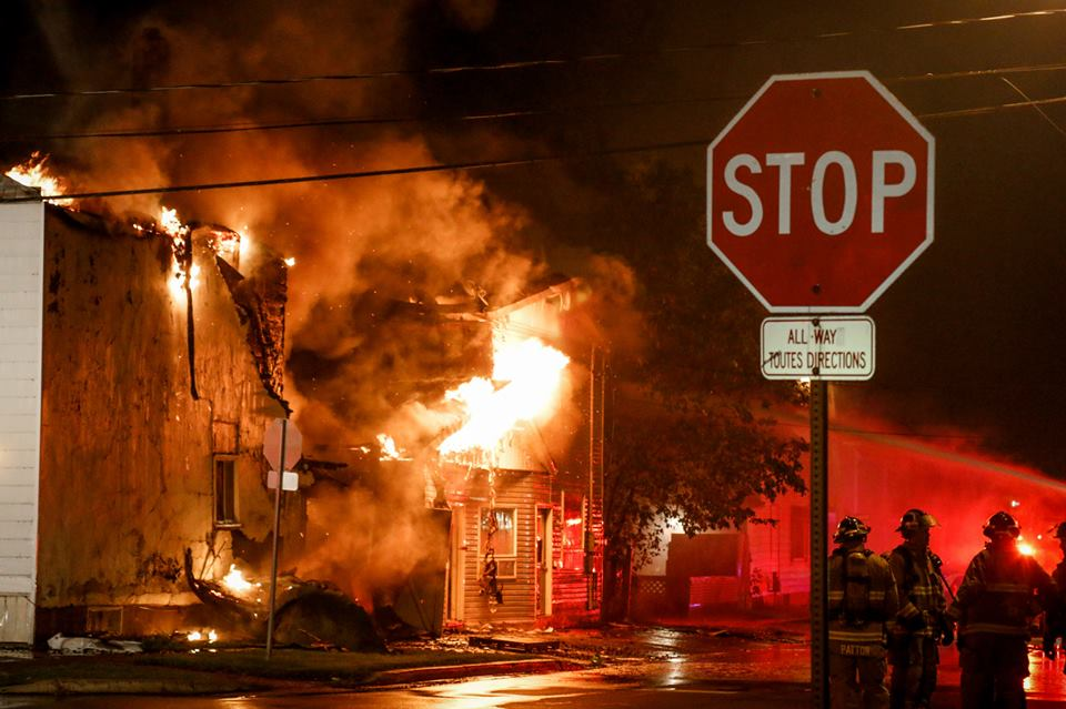 Photo of the Cornwall Fire Department putting out a fire earlier this year.