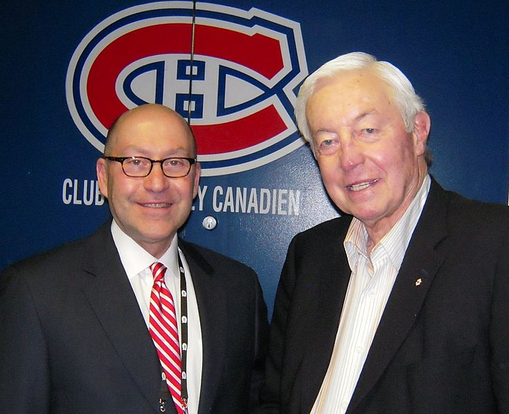 Ambassador David Jacobson and Jean Beliveau at a Canadiens / Sabres Game in 2009.  Picture: Wikimedia