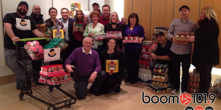 Photo Attached: Rachel's Kids Board of Directors makes donation of over 1,700lbs of food to help Stuff the Studio.