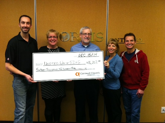 United Way gets boost from Cornwall Electric