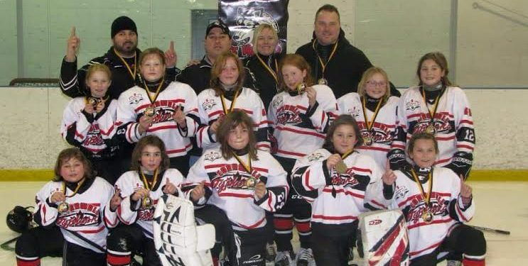 First row- Alicia Wotherspoon, Elizabeth Arbic, Emily Betournay-Kuhn, Sabrina Lalonde-Vaillancourt, Arielle Bissonnette.Second row. - Emma Thompson, Tory Bradbeer, Ella Dickson, Isabella Vincent, Briana Vincent, Kaitlyn Sage.Thirdrow-- Todd Arbic, Trevor Wotherspoon, Tracy Bradbeer, Brian Vincent. Submitted Photo.