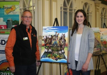 Finch Artist Laura Stevens Winning Artwork on Official IPM Poster