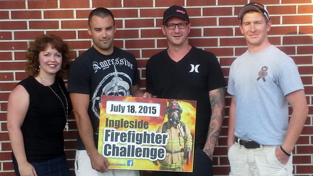 2015 Ingleside Firefighter Volunteer Organizing Committee: Jennifer MacIsaac, Stacy Charlebois, Zach Gingras and Dylan Prendergast (Dan Brisebois and Paul MacIsaac  - missing from photo).