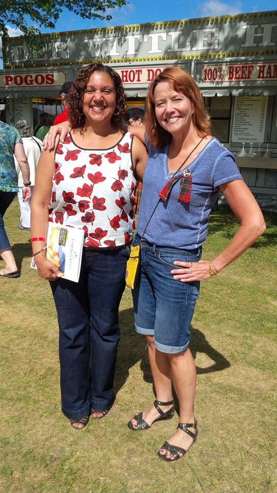 Bernadette Clement and Kathleen Hay at the Highland Games