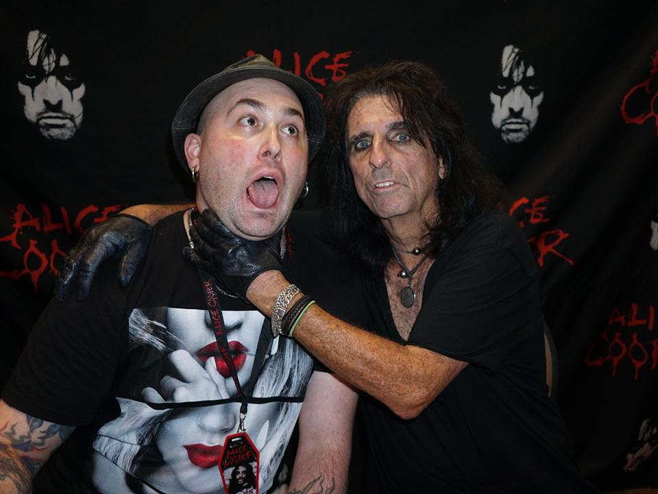 Ryan Theoret and Alice Cooper