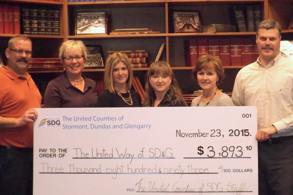 United Counties of SDG United Way Campaign 2015