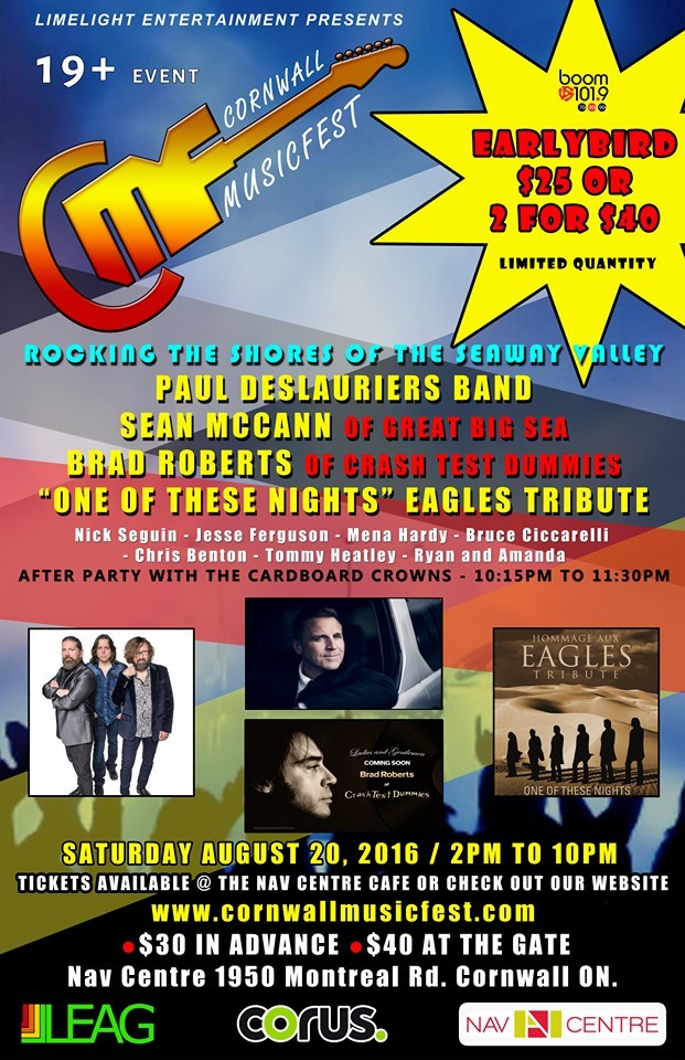 Cornwall Musicfest Event Poster 2016