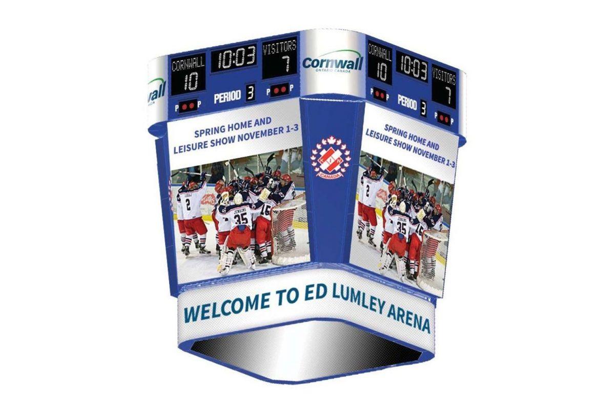 Scoreboard Cornwall Civic Complex Ed Lumley Arena