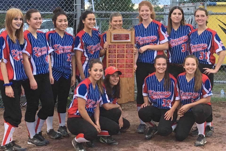 Kinsmen Girls Softball Team 2016 champions