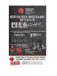 United Way Centraide SD&G HERO Kick-off Breakfast @ Royal Canadian Legion Br 297 |  |  |