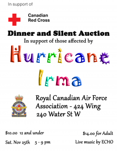 Hurricane Irma Relief Fundraiser @ RCAF WING |  |  |
