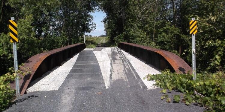 The Bridge at Bridge End, looking west to Quebec