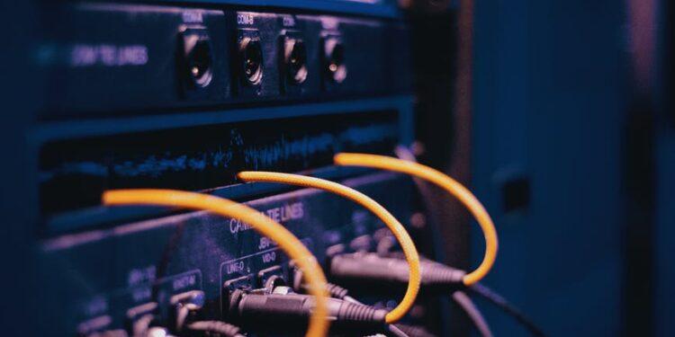 black cables