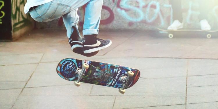 person performing skateboard tricks