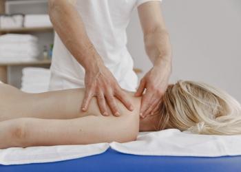 a woman having a massage