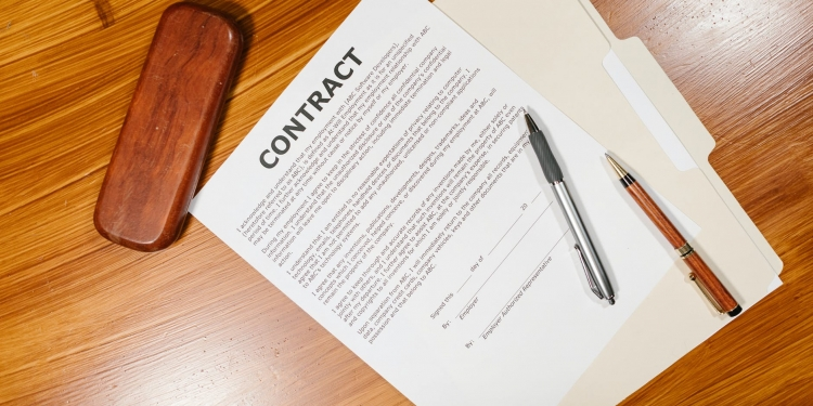 photo of employment contract
